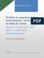 4 Módulos de capacitación para instrumentistas y directores de banda de vientos