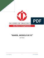 01_RETIRO MARIA, MODELO DE FE - PRIMER DIA