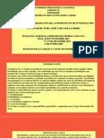 CURSO- TALLER ELABORACION DEL ANTEPROYECTO DE INVESTIGACIÓN DE ME 2019