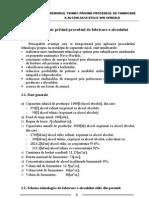 Cap. 2 Memoriul tehnic privind procedeul de fabricare a alcoolului etilic din cereale în instalaţia de capacitate mică