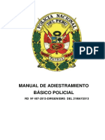 Manual de Adiestramiento Básico PNP 2013