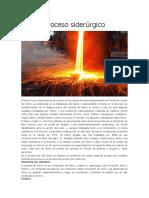 Proceso siderúrgico