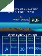 Upsr Technique 2009