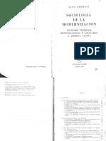 Germani Las Etapas Del Proceso de Modernización en América Latina
