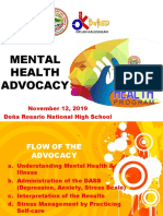 Improvised-Mental-Health-Program-Advocacy 2019 for personnel