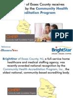 BrightStar of Essex County NJ Home Healthcare Award