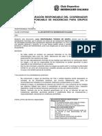 ANEXO 5 Declaración Del Responsable Del Grupo Encargado de Aplicar El Protocolo y Las Medidas de Seguridad