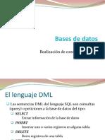bbdd lenguaje dml