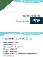 bases de datos tratamiento de los datos