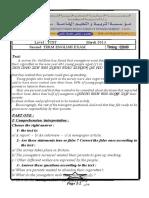 A4_Examen et corrige anglais 2013 1AS T2