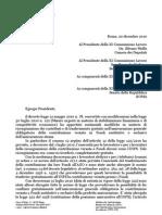 Lettera CGIL Commissione Lavoro Presidente - Fondo Telefonici Ed Elettrici