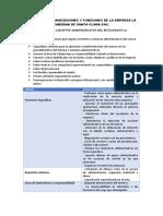 2. MANUAL DE ORGANIZACIONES Y FUNCIONES DE LA EMPRESA LA TABERNA DE SANTA CLARA SAC