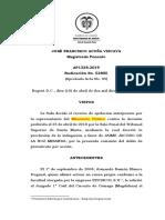 2019(52805) LA V DEBE SER CITADA DEBIDAMENTE A PRECLUSION