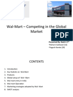 Wal-Mart – Competing in the Global Market (SWOT analysis)