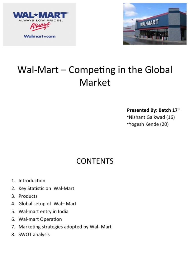 wal mart essay international marketing Wal-mart marketing essay posted on june 13th, 2012, by essay in this paper we are going to study the marketing strategies, historically applied by the specialists of wal-mart and their influences upon the development of wal-mart.