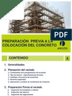 Preparación previa a la colocación de concreto1