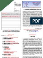 Boletín Dominical  2 de junio