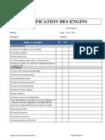 GM - VEH - 003 Rév 0 - Check list vérification des engins