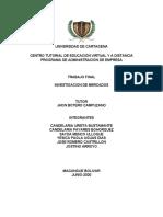 TRABAJO FINAL INVESTIGACION DE MERCADOS