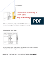 Conditional formatting in Pivot Tables - Goodly