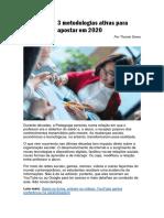 3 metodologias ativas para apostar em 2020