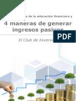 eBook ECDI - Las 4 maneras de generar ingresos pasivos