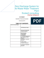 Designing Zero Discharge System for a Textile Waste Water Treatment Plant