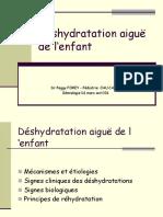 Deshydratation aigue de l'enfant