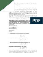 sistema de ecuaciones lineales con dos incógnitas