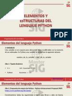 ESTRUCTURAS Y ELEMENTOS DE PYTHON