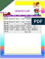 HORARIO DE CLASES