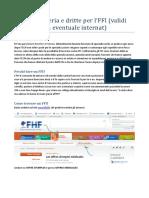 Guida semiseria e consigli FFI