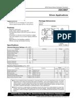 2SC3987 NPN Planar Silicon Darlington Transistor