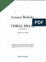 Three pieces-Lennox Berkeley