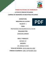 PROPIEDADES FISICO QUIMICO DE LA LECHE