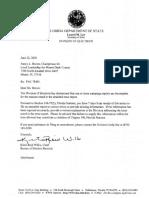 Reiner Letter