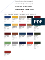 Willys Jeep Paint Color Guide. PDF