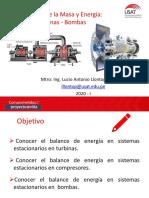 Sesión N ° 20  Balance de energía Turbinas Bombas (1)
