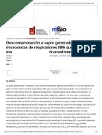 Descontaminación a vapor generada por microondas de respiradores N95 que utilizan materiales accesibles universalmente _ mBio.pdf