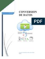 CONVERSIÓN DE DATOS