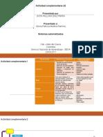 Servicios De Automatizacion - Actividad 2 Complementaria U2