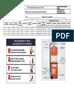 Checklist de Extintor