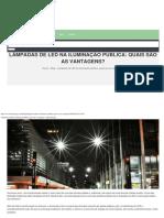 Lâmpadas de LED na iluminação pública quais são as vantagens - Eletro Energia