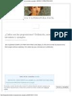 ¿Cuáles son las preposiciones Definición, características, inventario y ejemplos - LENGUA Y LITERATURA FÁCIL