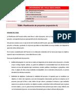 Planificación de proyectos (exposición 6)
