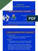 Seguridad Informática y Criptografía. Autenticación y Firma Digital