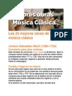 Las 25 mejores obras de la música clásica - Pasion del musico