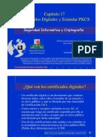 Seguridad Informática y Criptografía. Certificados Digitales y Estándar PKCS