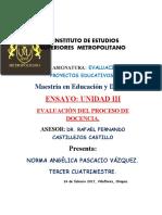 ENSAYO (EVALUACIÓN DE PROYECTOS EDUCATIVOS)