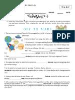 Worksheet #5 - 9° SecondTerm